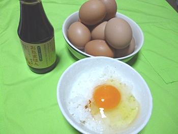 新鮮な卵は、卵かけごはんがおすすめ。